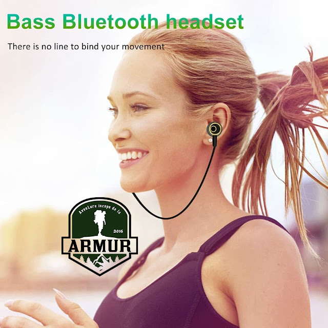 Casti Bluetooth compatibile iphone sau Android wireless