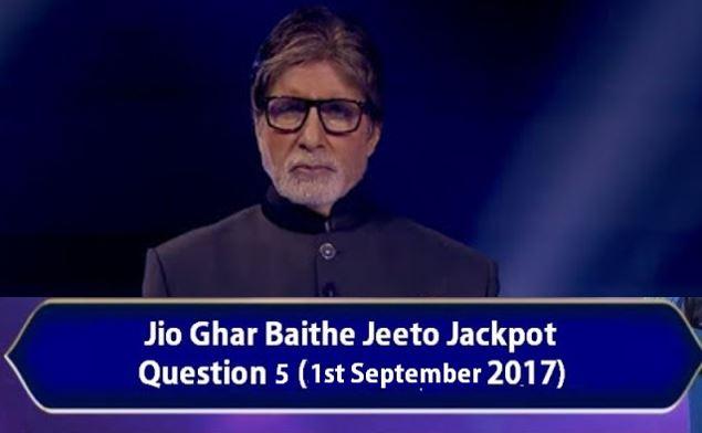 jio jackpot question