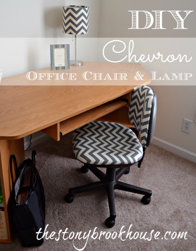DIY Chevron Chair & Matching Lamp