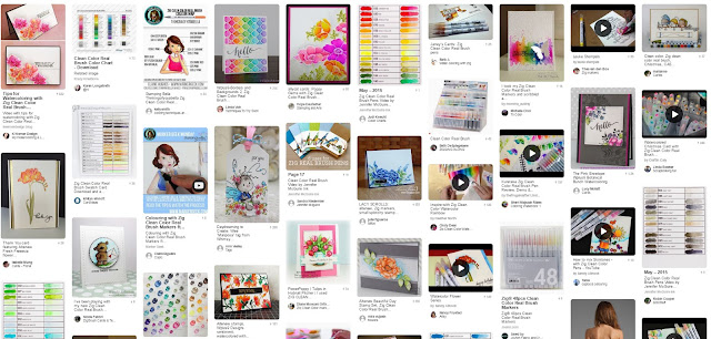 Pinterest search for Zig Clean Color Real Pen markers
