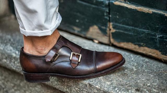 мужские туфли с пряжкой монки