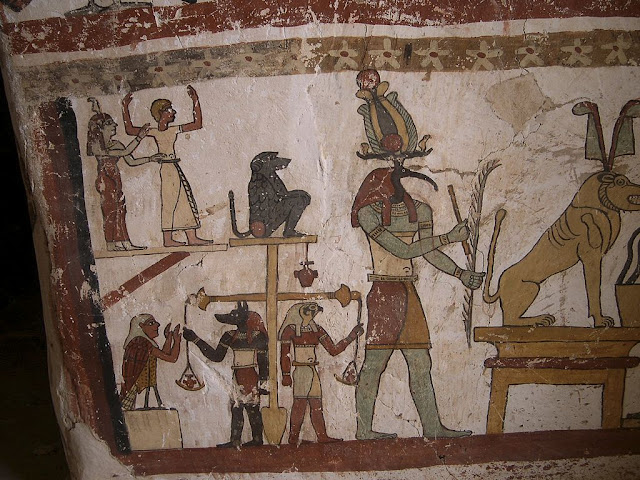 Paintings from the tomb of Petosiris at Muzawaka (XLII)