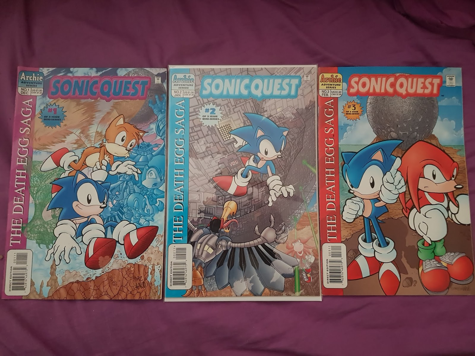 Emerald Rangers Sonic Quest The Death Egg Saga Issues 1 3 Comic Book Mini Series Review Sonic The Hedgehog