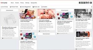 Premium Blogger Template - Kompi Ajaib