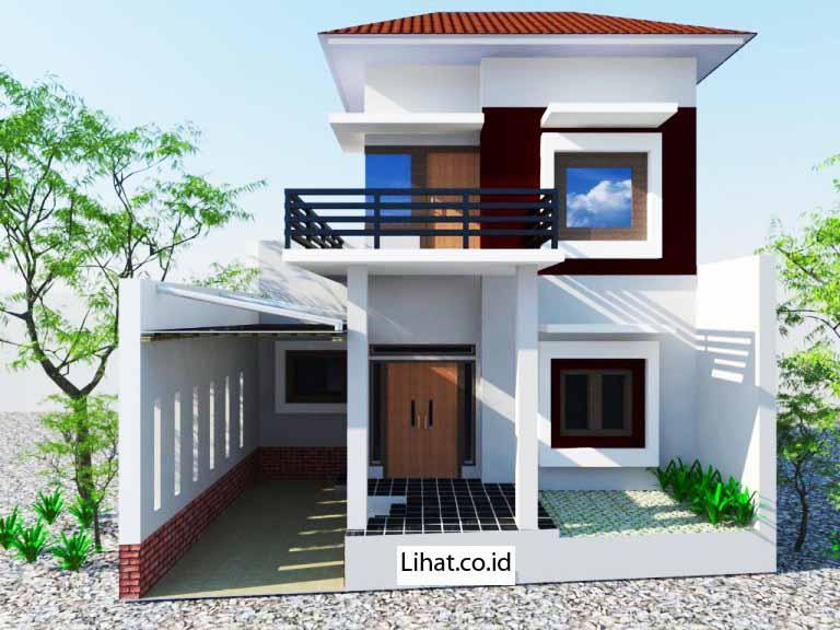 desain rumah modern klasik 1 dan 2 lantai minimalis tapi