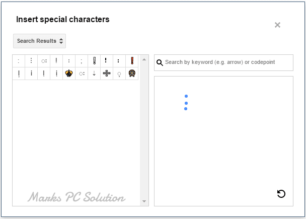 Draw and find your desired special characters