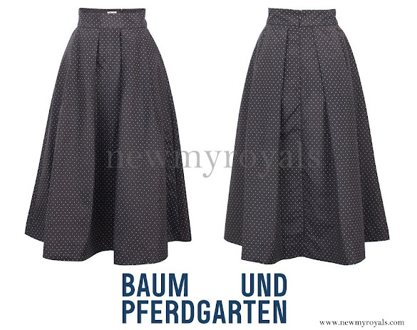Crown Princess Mary wore Baum und Pferdgarten Sashenka Skirt