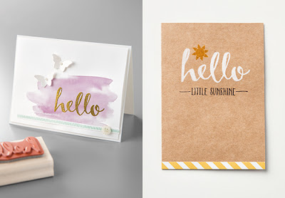 Stampin' Up! Sale-a-bration Hello Projects