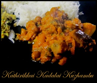Kathirikkai Kadalai Kuzhambu