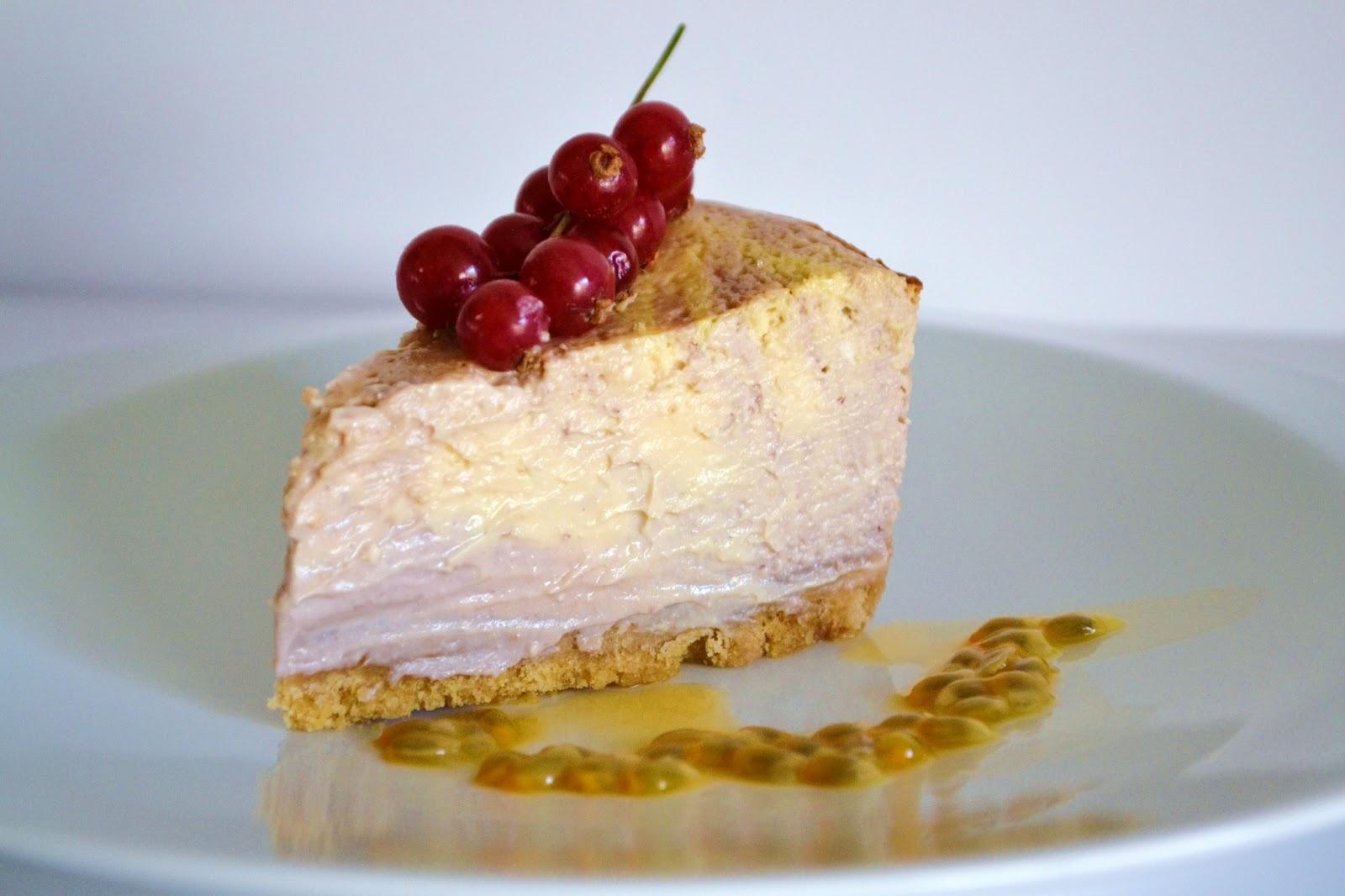 Priv de dessert cheesecake passion fruits rouges - Cheesecake fruit de la passion ...