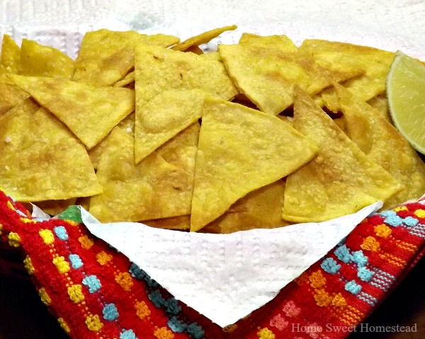 Lime Tortilla Chips - Home Sweet Homestead