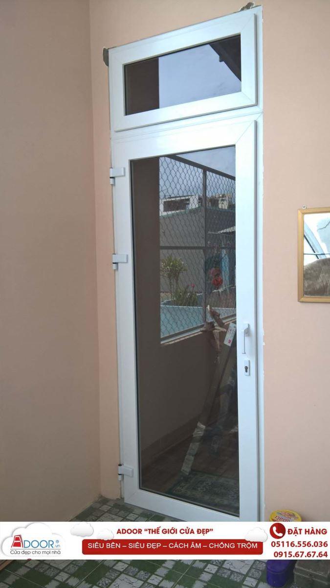 Mẫu cửa đi 1 cánh ra ban công - cửa nhựa lõi thép đà nẵng