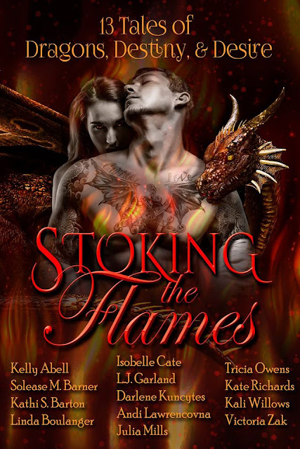 Stoking the Flames, paranormal romance, dragons, shifters,