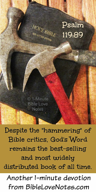 Bible critics can't stop God's Word, Bible criticisms are worthless