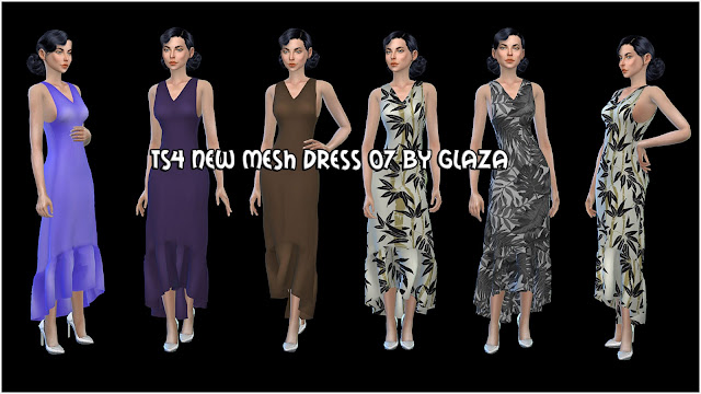 TS4 NEW MESH DRESS 07 BY GLAZA