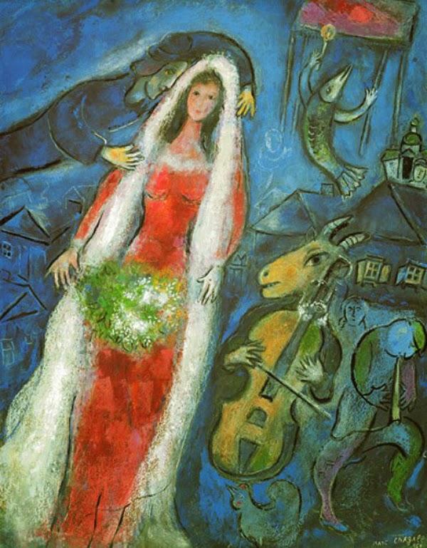 A Noiva - O Surrealismo glorioso de Marc Chagall