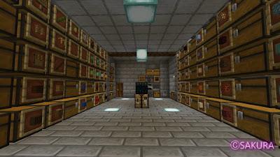 Minecraft 多段式倉庫 サバイバルモード