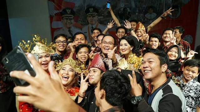 Bupati Muba Kunjungi Mahasiswa Yogyakarta Asal Muba