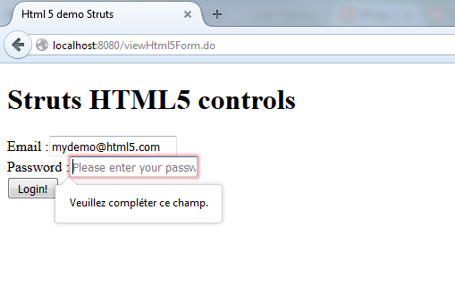 My Java Tech Tips Html5 Form Tags With Struts