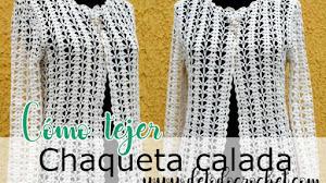 Chaqueta calada talle grande tejida a crochet / DIY