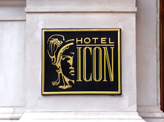 Hotel Icon name plate and logo