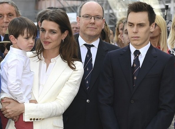 Prince Albert, Louis Ducruet, Charlotte Casiraghi and her son Raphael Elmaleh attended the Monaco Formula E Grand Prix
