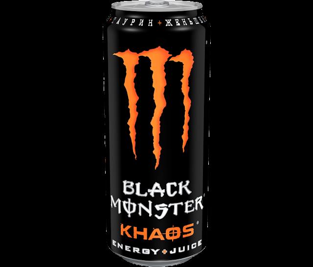 Новый Black Monster Khaos Energy+Juice, Новый энергетический напиток Black Monster Khaos Energy+Juice, Новый Black Monster Khaos Energy+Juice Россия состав стоимость и цена