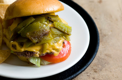 Green chile cheeseburger | Homesick Texan