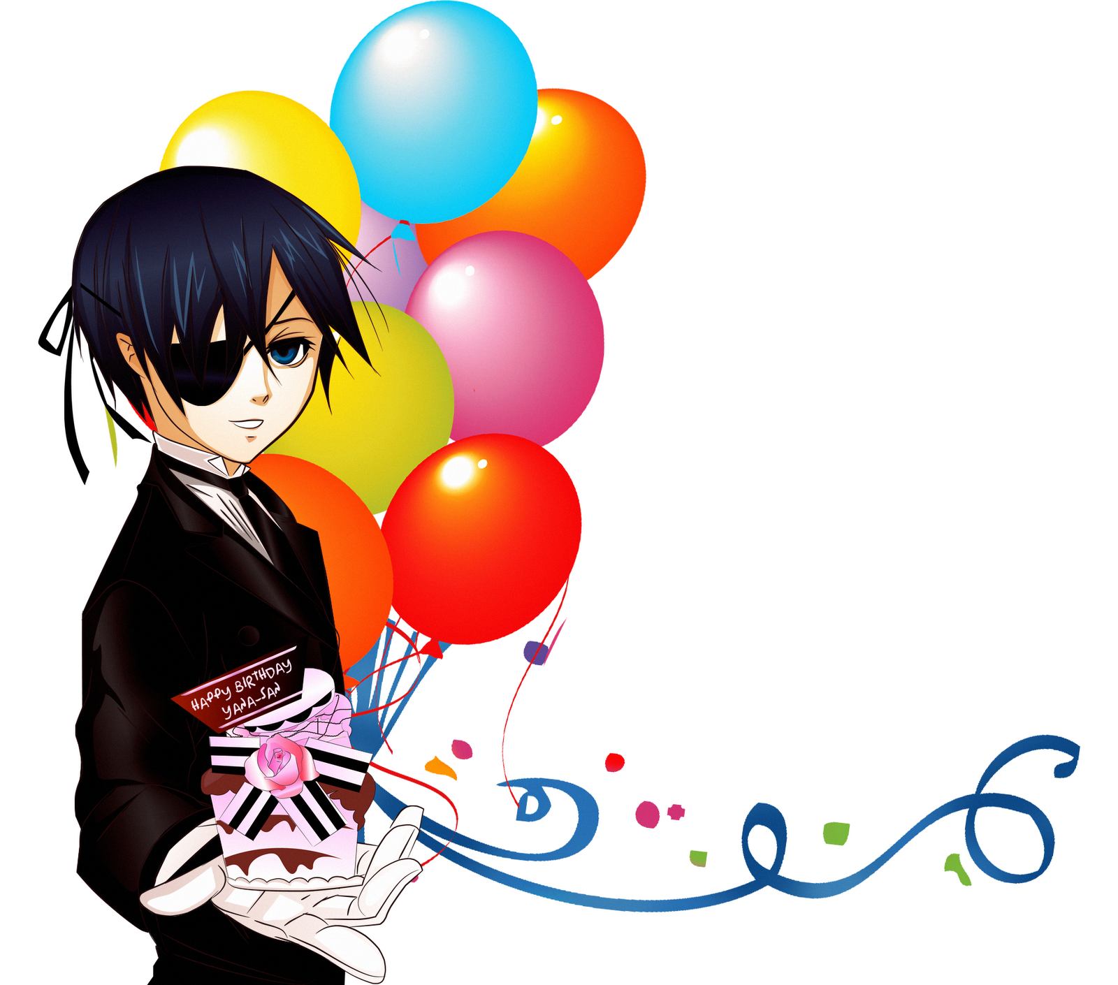 Boy with balloons wishing Birthday. 1600 x 1410.Birthday Wishes Thank You Messages To Friends
