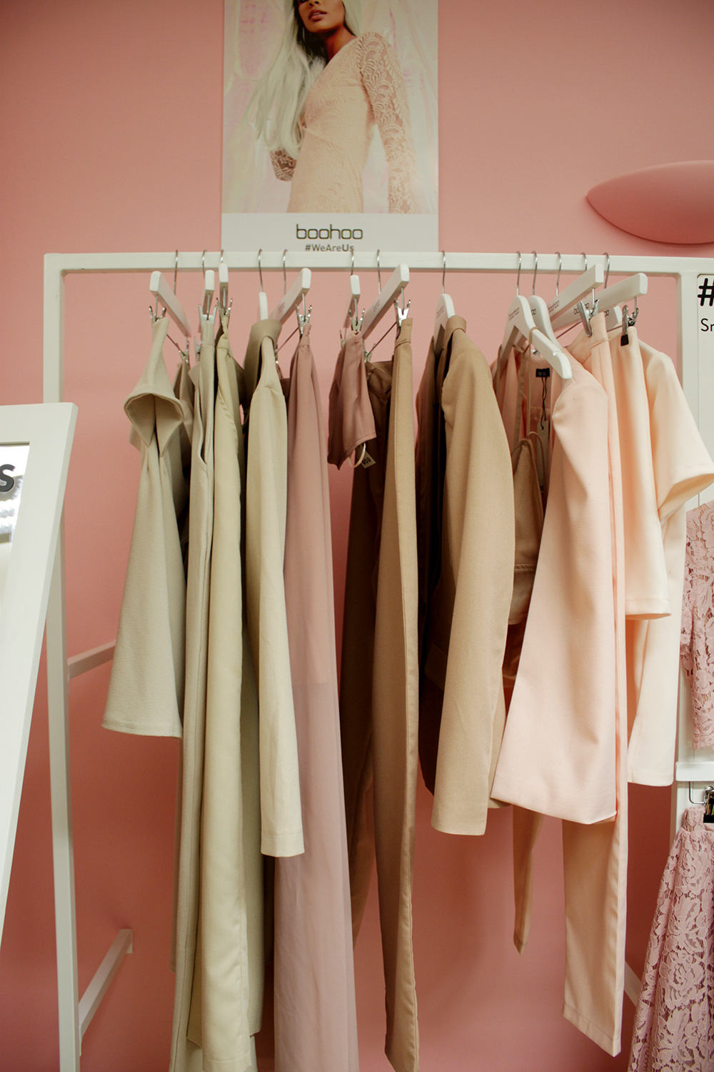 boohoo blog event, london, pastel pink clothes, spring