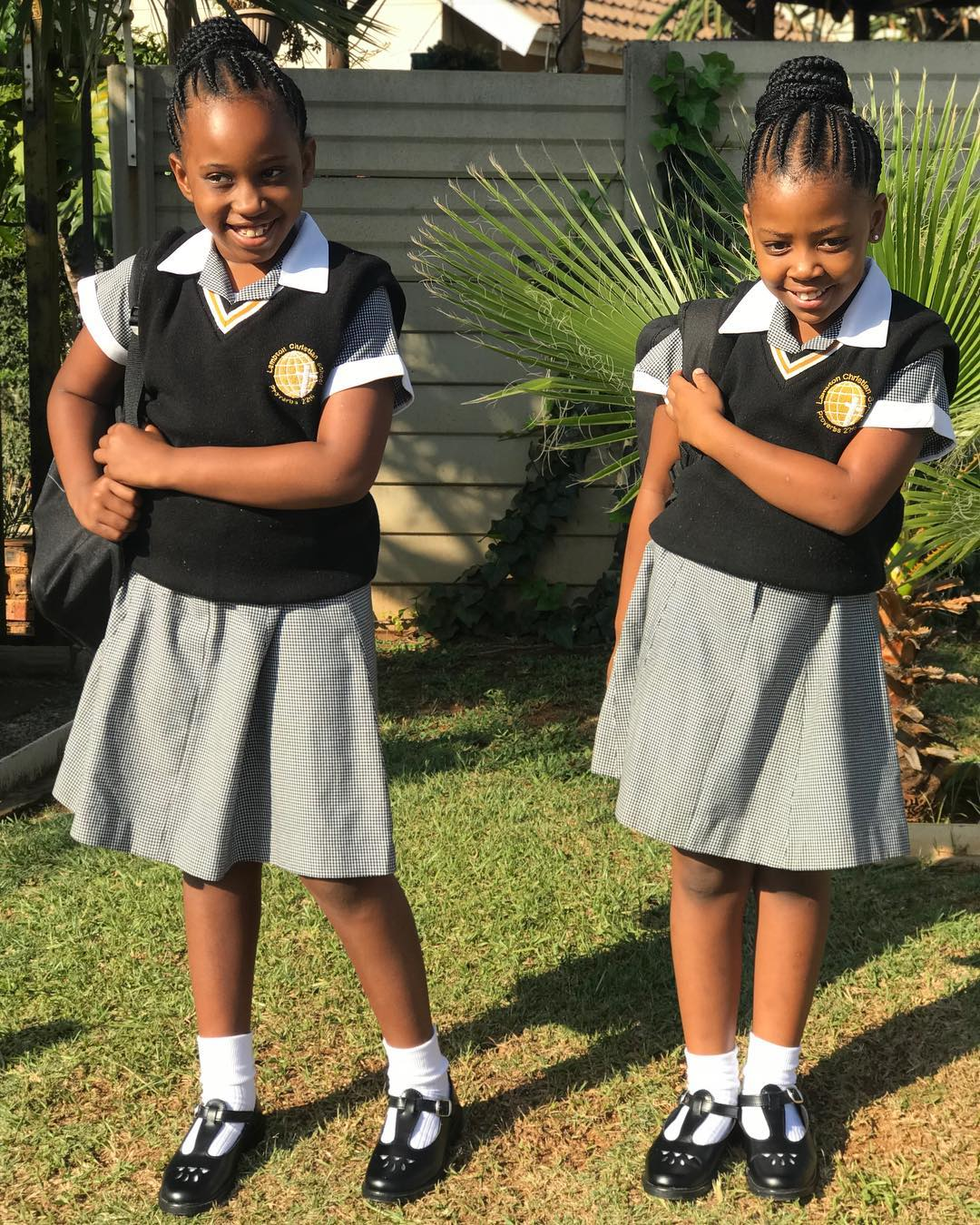 Backtoschool Mzansi Celebs With Their Kids On First Day -5046