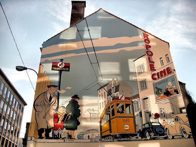 Passeio dos quadrinhos em Bruxelas