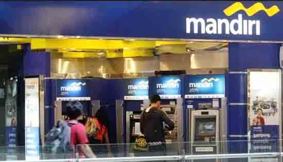 Bank Mandiri tersedia ATM nya di seluruh Indonesia. Gambar dari Internet
