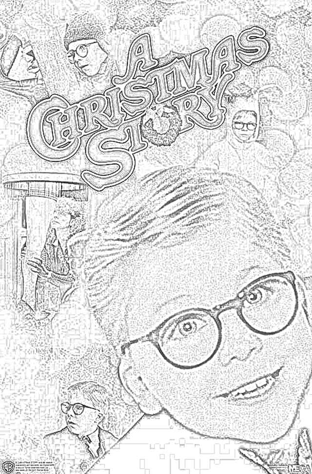 Coloring Pages A Christmas Story Coloring Pages Free And