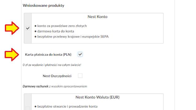 Wniosek o Nest Konto w Nest Banku