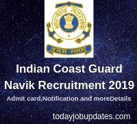 Indian Coast Guard Navik Recruitment 2019