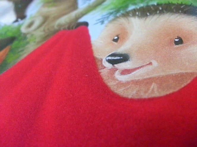 One Special Sleepover by Little Tiger Press children's book review flock blanket close up