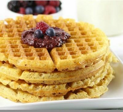 19. Waffle renyah tanpa gandum