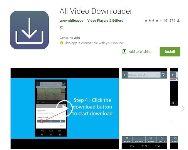 Aplikasi Android Download Video Terbaik