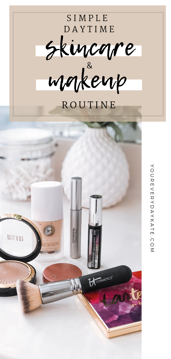 simple easy makeup and daytime skincare