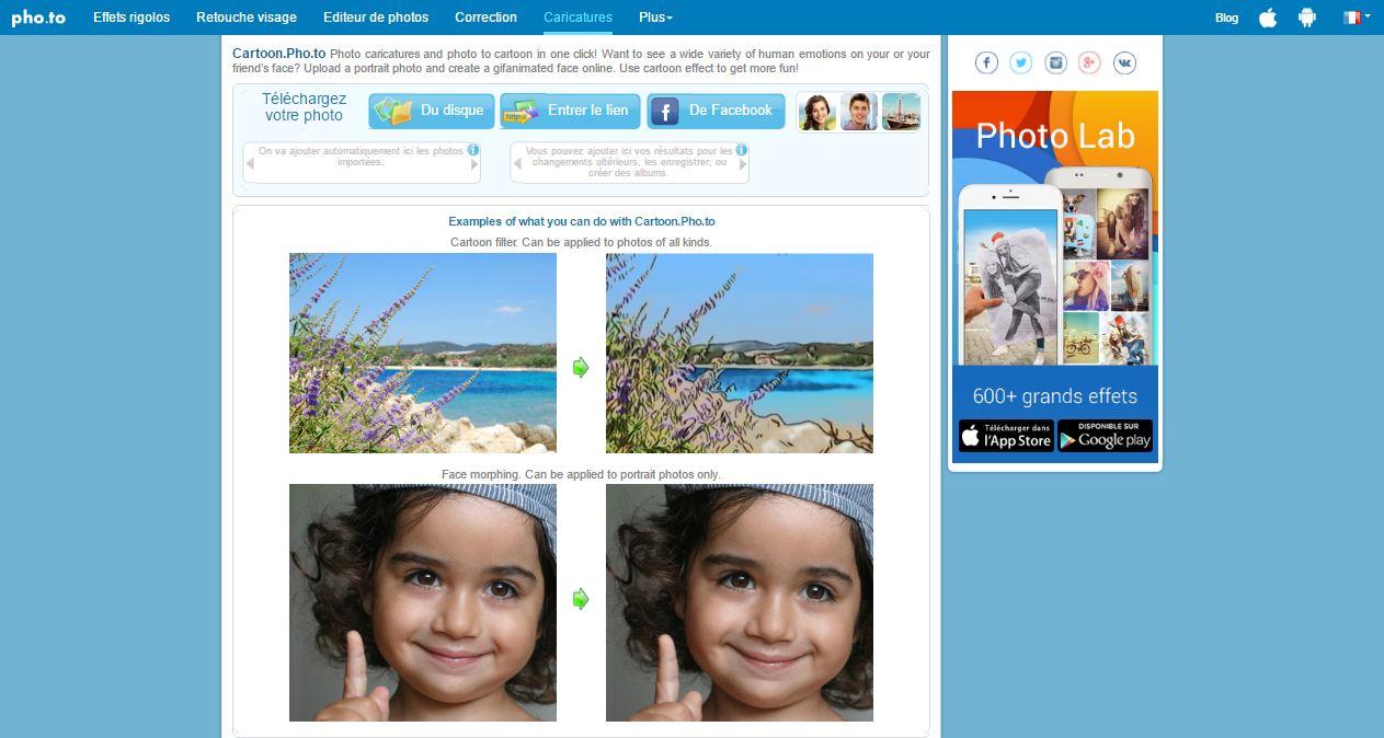 أفضل مواقع إنشاء و تحويل الصور الشخصية إلى صور كرتونية أو