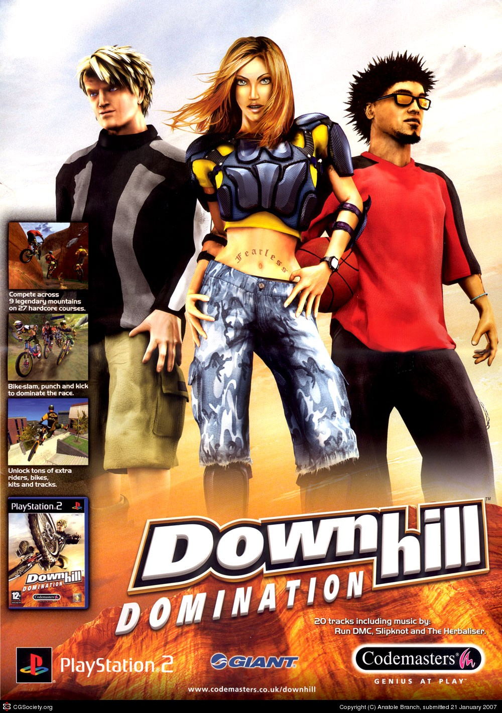 Downhill domination characters above told
