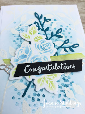 Jo's Stamping Spot - Congratulations Card using Petal Palette by Stampin' Up!