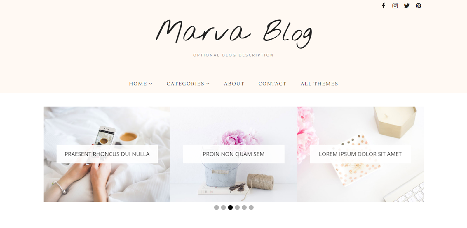 marva blog blogger template