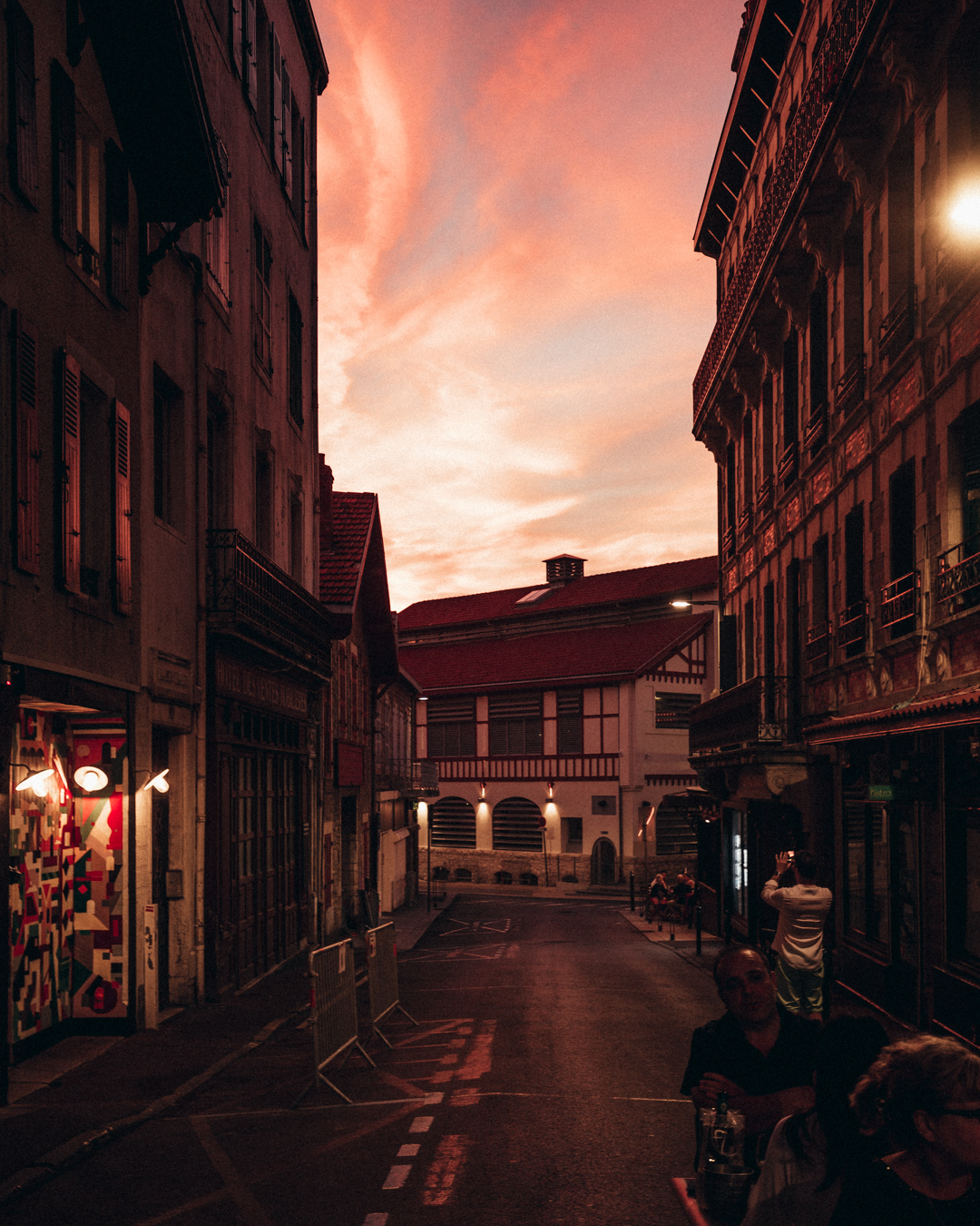 biarritz france sunset
