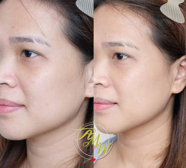 before and after photo of Make Up For Ever HD Skin Perfector Review