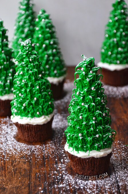 Christmas Tree Cupcakes, Just a Taste