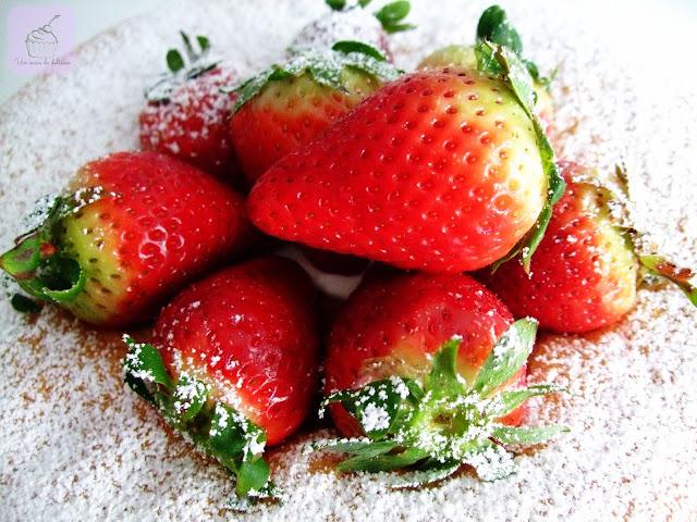 Gâteau fraises-crème fouettée