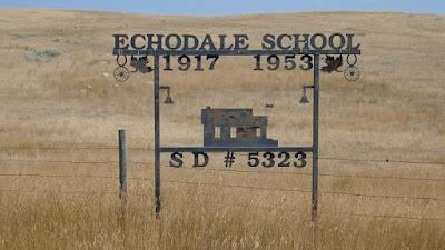 school, sign, Hilda, Alberta