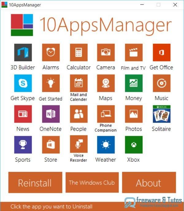 10AppsManager : pour désinstaller facilement les applications natives de Windows 10